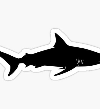 Blacktip Shark Silhouette (Black) Sticker
