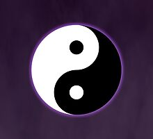 Ying Yang Colored Case-Purple by TomsTops