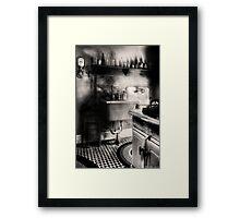 Old time kitchen Framed Print