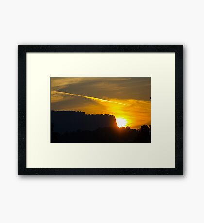Sunset in the Hills Framed Print