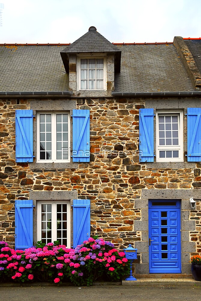 Country house in Brittany, France by Elena Elisseeva