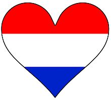 Netherlands Flag Heart by kwg2200