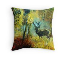 a stag Throw Pillow
