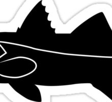 Snook Fish Silhouette (Black) Sticker