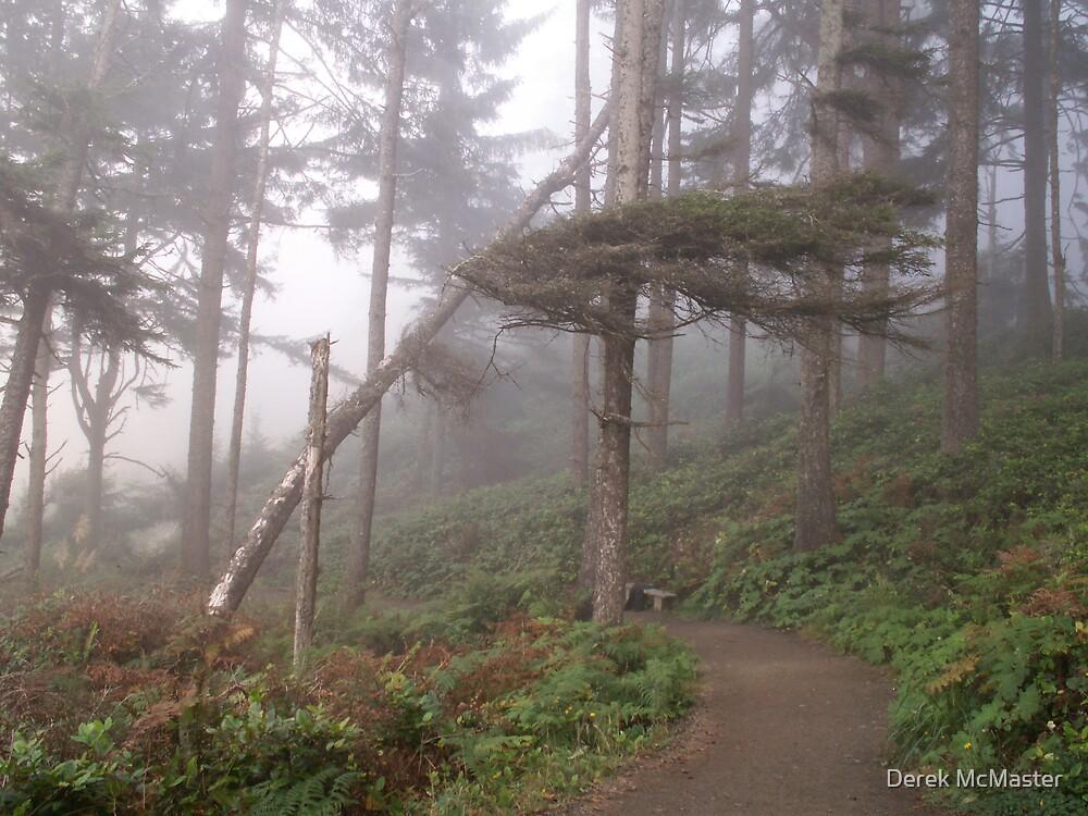 Trees in Fog 4 by Derek McMaster