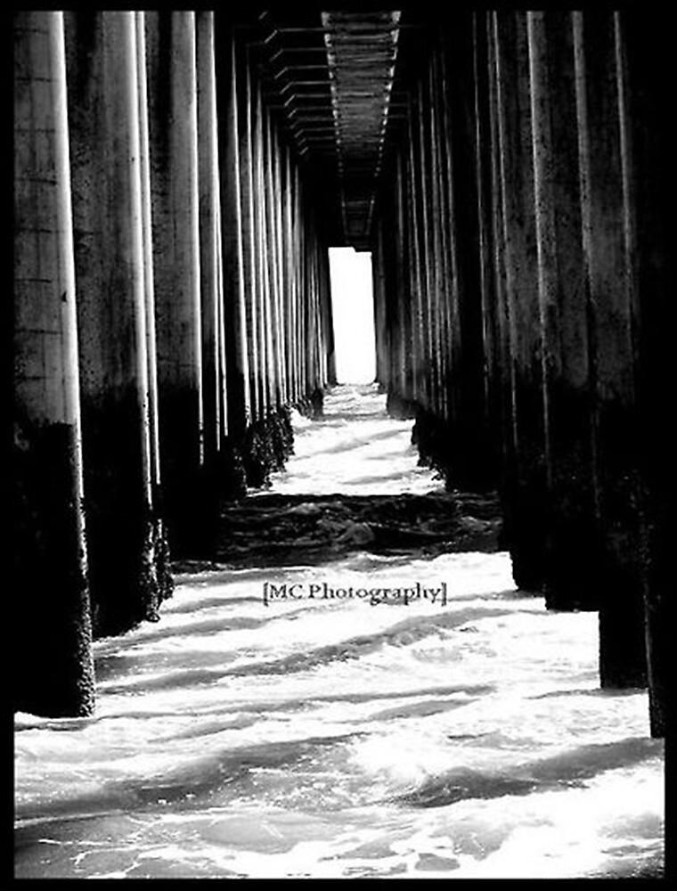 Under the Huntington Beach Pier by Melissa  Carroll