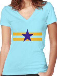 Browncoat (Independents) Flag Women's Fitted V-Neck T-Shirt
