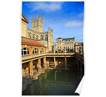 Roman Baths, Bath England Poster