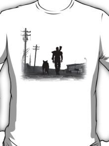 Fallout Wasteland Design Plain T-Shirt