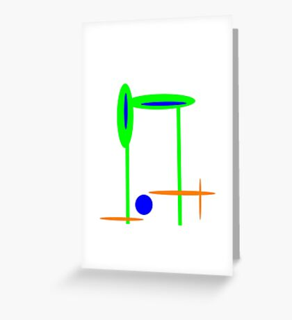 GREEN and BLUE abstract mod Greeting Card