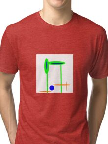 GREEN and BLUE abstract mod Tri-blend T-Shirt