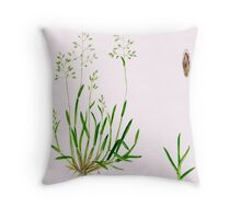 Annual Meadow Grass - Poa annua Throw Pillow