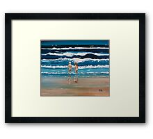 Art Beach Bums  Oil Painting Framed Print