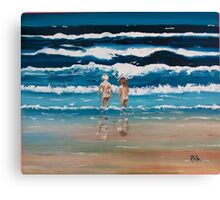 Art Beach Bums  Oil Painting Canvas Print