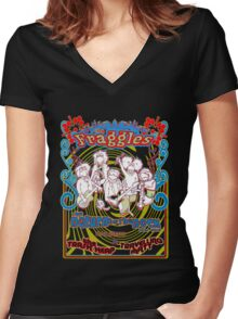 Fraggles - return to the rock tour Tee Women's Fitted V-Neck T-Shirt