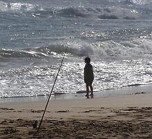 Small boy, big ocean. by Graham Houghton