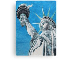 The Statue Canvas Print