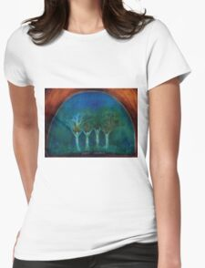 Sister Seasons art  four sisters family love Womens Fitted T-Shirt