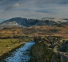 winter mountain view lake district cumbria by eddiej