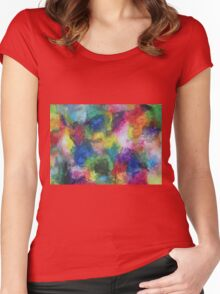 """In a Dream"" original abstract artwork by Laura Tozer Women's Fitted Scoop T-Shirt"