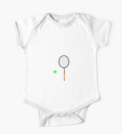 PLAY BALL abstract, tennis, badminton One Piece - Short Sleeve