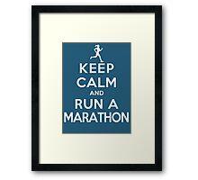 Keep Calm and Run a Marathon Female (DS) Framed Print