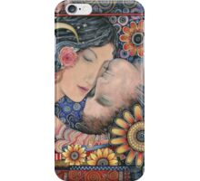 The Sun and The Moon Romantic Art of Lovers. iPhone Case/Skin