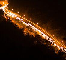 Western Freeway (M5) by Night by James Ottaway