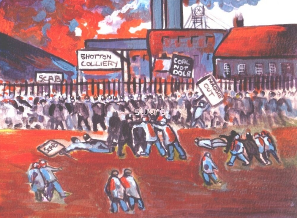 Miners strike (from my original acrylic ) by sword