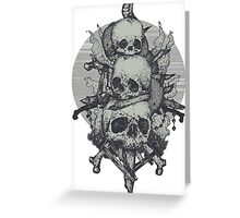 3 Skulls Greeting Card
