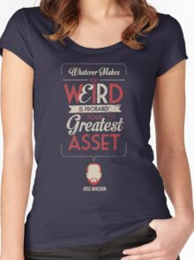 Whatever Makes You Weird Women's Fitted Scoop T-Shirt