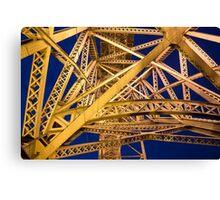 Golden Great Bridge Canvas Print