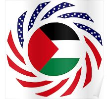 Palestinian American Multinational Patriot Flag Series Poster