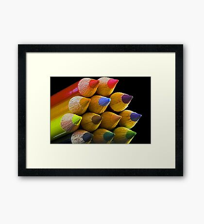 Coloured Tips Framed Print