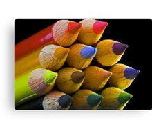 Coloured Tips Canvas Print