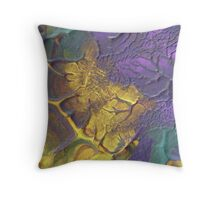 """Deeply Rooted"" original abstract artwork by Laura Tozer Throw Pillow"