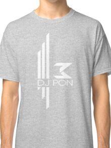 DJ Pon-3: White Logo Classic T-Shirt