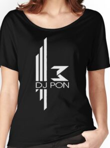 DJ Pon-3: White Logo Women's Relaxed Fit T-Shirt