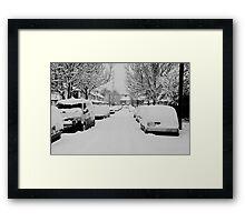 Snow Street Scene Framed Print