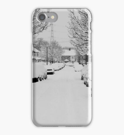 Snow Street Scene iPhone Case/Skin
