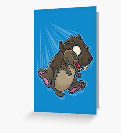 Lemming Base Jumping Greeting Card