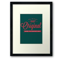 Since 1987 Original Aged To Perfection Framed Print
