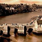 Pont de St. Goustan & Riviere d'Auray, Bretagne, France by Buckwhite