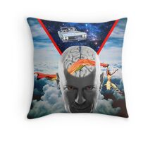 Mental Floss (Staring Bruce Willis) Throw Pillow