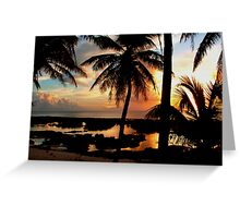 Run To Paradise Greeting Card