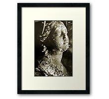 sepia bust Framed Print