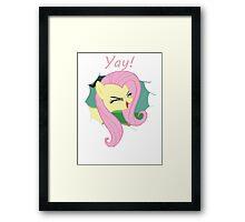 Yay!! Fluttershy Framed Print