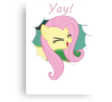 Yay!! Fluttershy Canvas Print