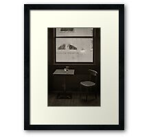 A Pint Of Beer On A Rainy Day Framed Print