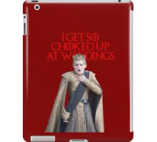 I get so choked up at weddings iPad Case/Skin